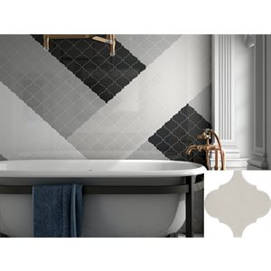 Série Alhambra * 5x5 Gris pâle