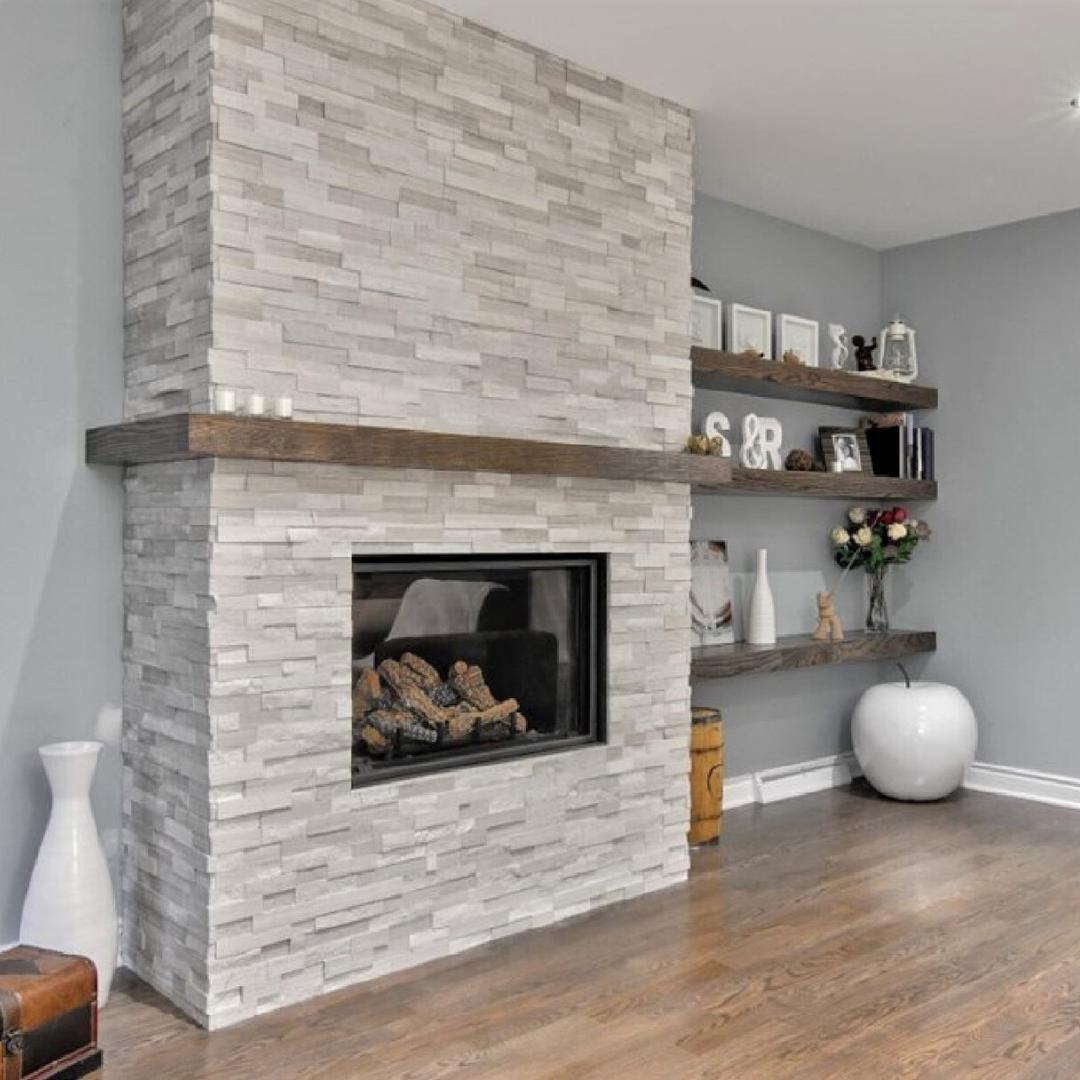 foyer au gaz pierres decoratives