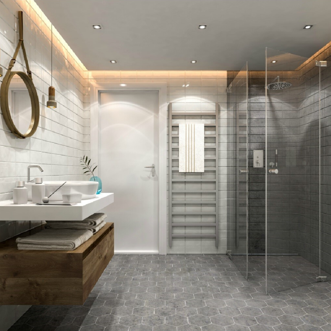 salle de bain douche verre