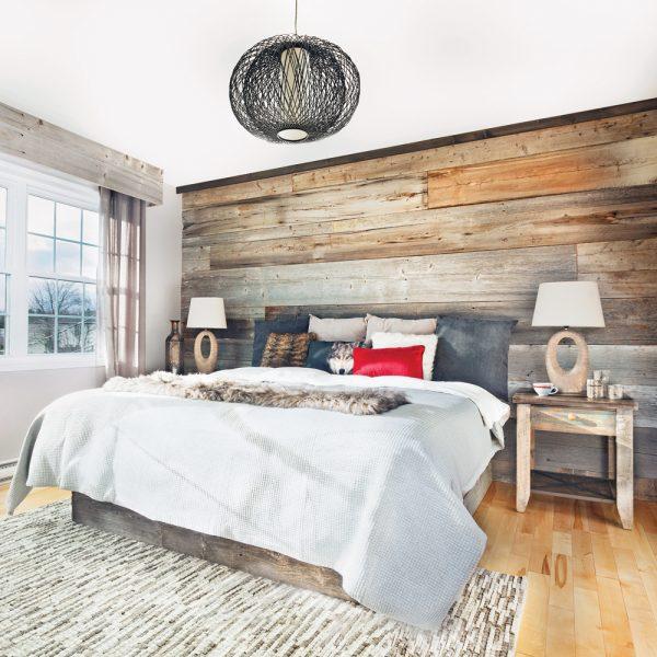 decor chambre a coucher style rustique chalet